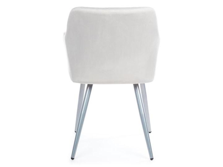 Krzesło Rico Light Gray Metal Tkanina Welur Kategoria Krzesła kuchenne