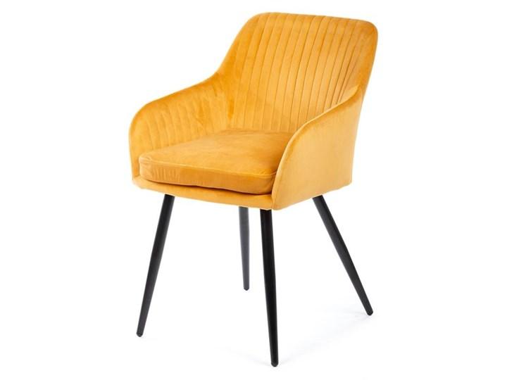 Krzesło Lenti Black Orange Welur Metal Styl Nowoczesny Tkanina Kategoria Krzesła kuchenne