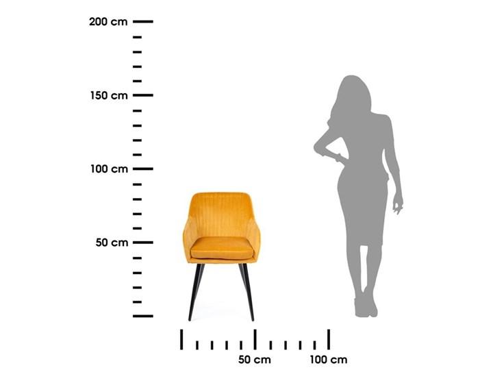Krzesło Lenti Black Orange Metal Tkanina Styl Nowoczesny Welur Kategoria Krzesła kuchenne