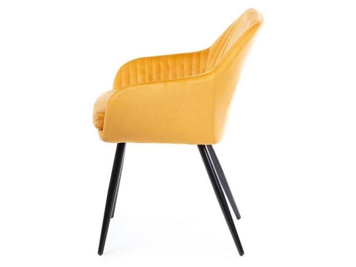 Krzesło Lenti Black Orange Welur Tkanina Metal Kategoria Krzesła kuchenne