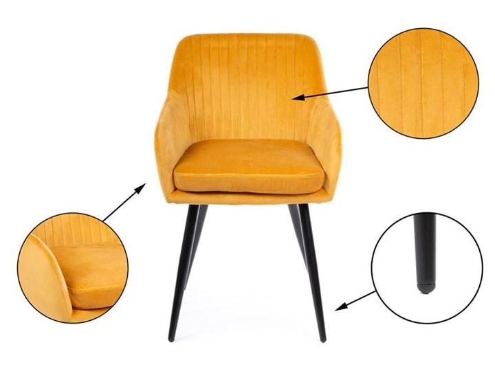 Krzesło Lenti Black Orange Styl Nowoczesny Tkanina Metal Welur Kategoria Krzesła kuchenne