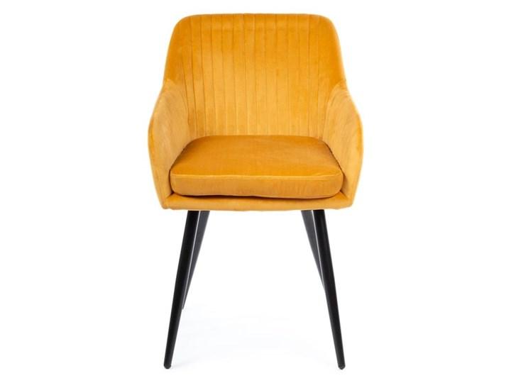 Krzesło Lenti Black Orange Tkanina Metal Styl Nowoczesny Welur Kategoria Krzesła kuchenne