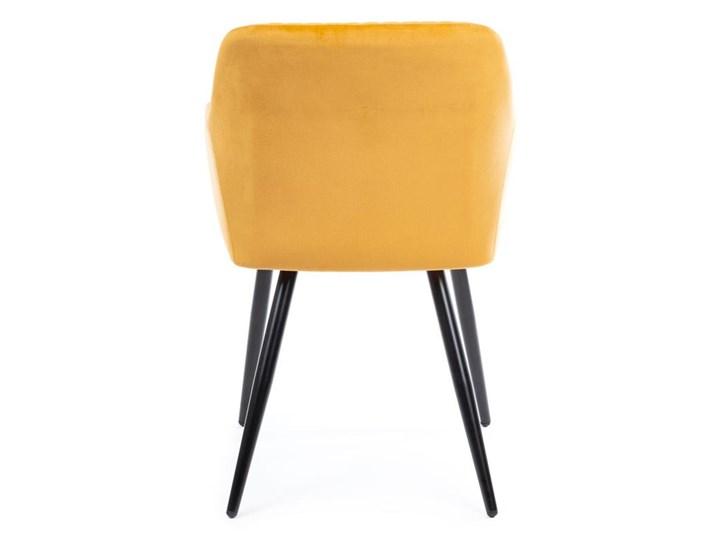 Krzesło Lenti Black Orange Metal Tkanina Welur Styl Nowoczesny
