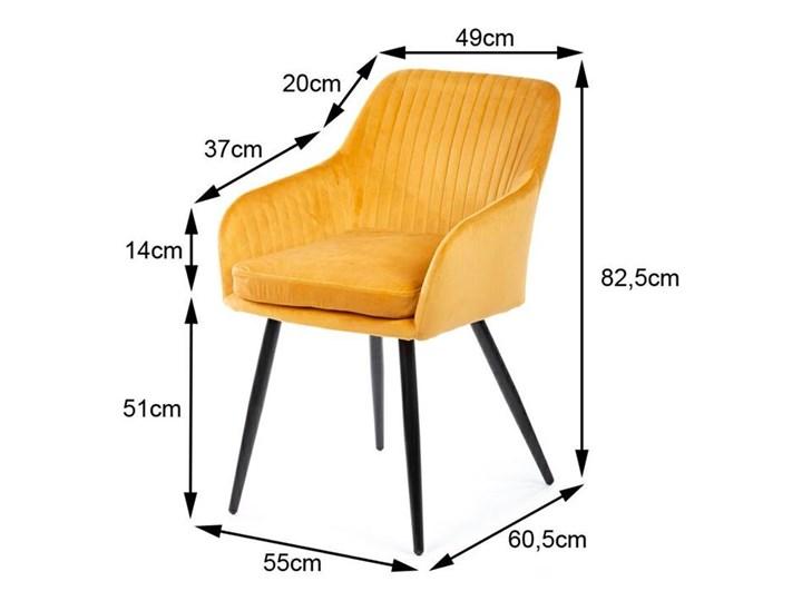 Krzesło Lenti Black Orange Tkanina Styl Nowoczesny Welur Metal Kategoria Krzesła kuchenne