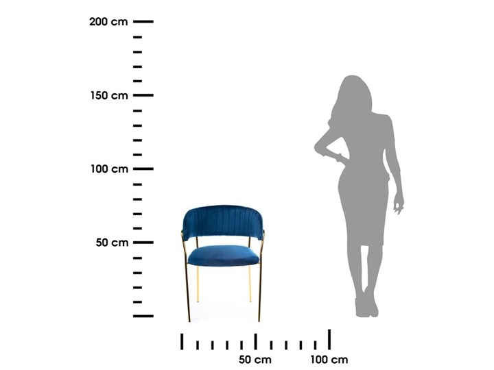 Krzesło Rarity Gold Dark Blue Welur Metal Tkanina Kategoria Krzesła kuchenne