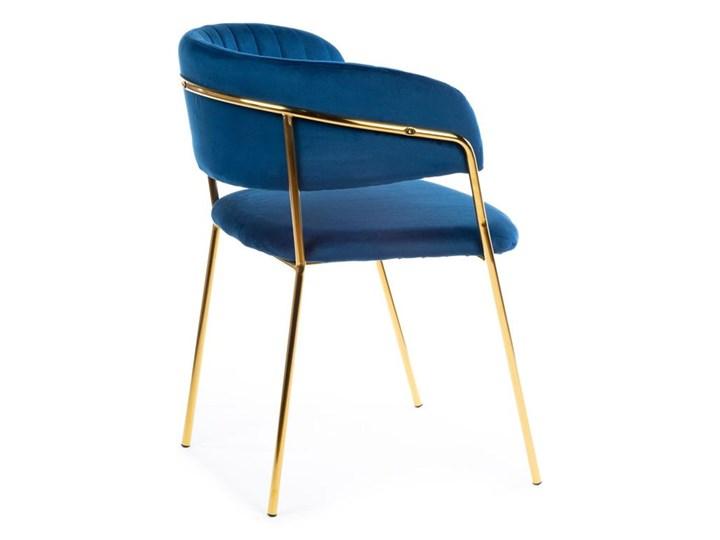 Krzesło Rarity Gold Dark Blue Tkanina Styl Nowoczesny Metal Welur Kategoria Krzesła kuchenne
