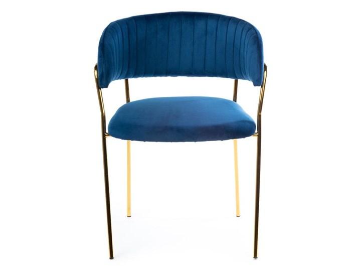Krzesło Rarity Gold Dark Blue Metal Welur Tkanina Kategoria Krzesła kuchenne