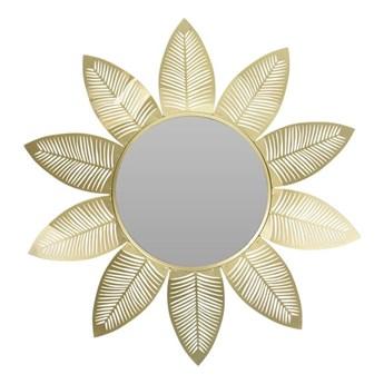 Lustro ścienne Glamour złoty kwiat