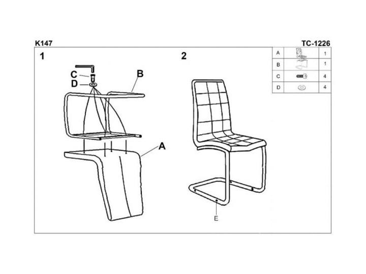 Krzesło K147 białe HALMAR Tapicerowane Tworzywo sztuczne Styl Nowoczesny Metal Tkanina Stal Kolor Biały