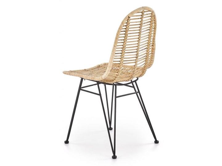Krzesło K337 rattanowe HALMAR Metal Tkanina Stal Styl Nowoczesny
