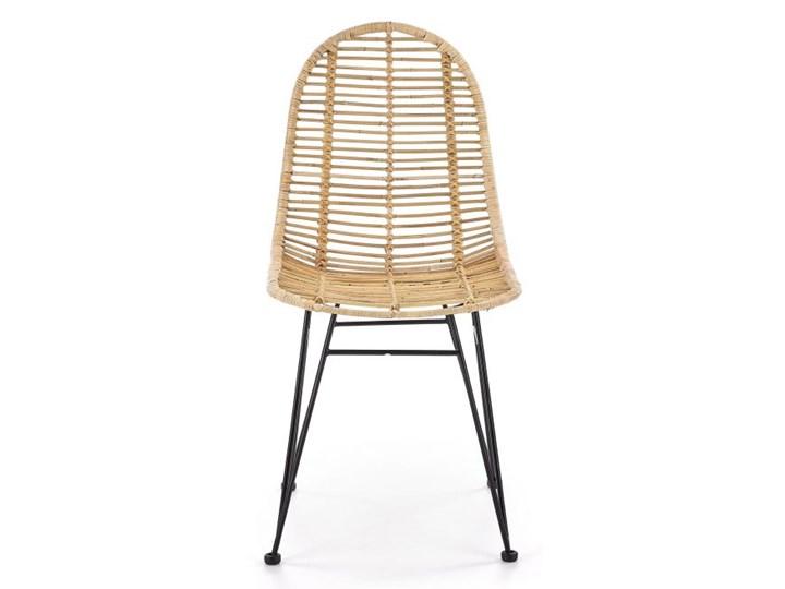 Krzesło K337 rattanowe HALMAR Stal Metal Tkanina Styl Nowoczesny