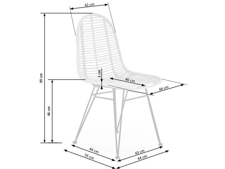 Krzesło K337 rattanowe HALMAR Stal Tkanina Metal Styl Nowoczesny