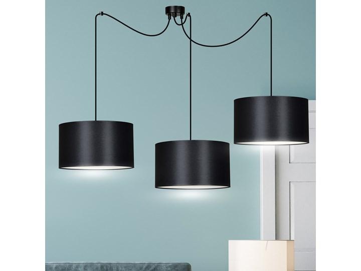 ROTO 3 BLACK 186/3 lampa wisząca czarna z abażurem biały środek Funkcje Brak dodatkowych funkcji Metal Lampa z abażurem Kategoria Lampy wiszące