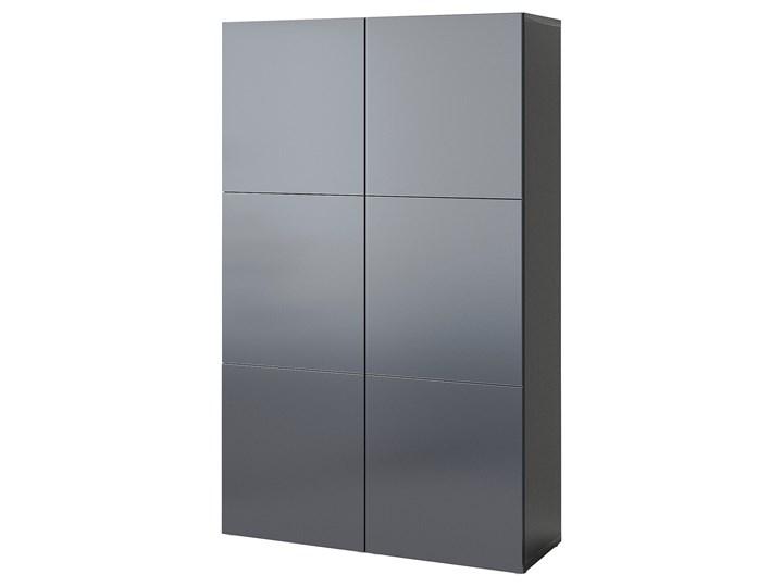 IKEA BESTÅ Kombinacja z drzwiami, Czarnybrąz/Riksviken efekt szczotkowanej ciemnej cyny, 120x42x193 ...