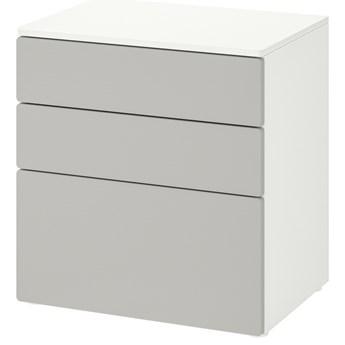 IKEA SMÅSTAD / PLATSA Komoda, 3 szuflady, Biały/szary, 60x42x63 cm