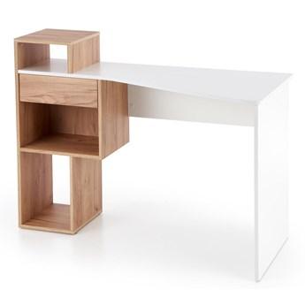 Praktyczne biurko młodzieżowe z regałem Conti
