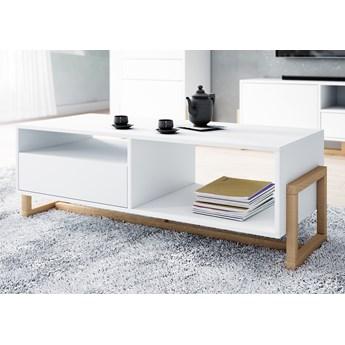 Biały stolik kawowy w stylu skandynawskim Oslo