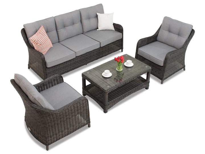 Zestaw technorattanowy Toledo Coffee 5 antracyt Garden Point Aluminium Tworzywo sztuczne Zawartość zestawu Fotele