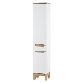 Bettso Wysoki słupek łazienkowy 2D 1S Bali White / biel alpejska + biały połysk