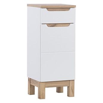 Bettso Szafka niska do łazienki 1D 1S Bali White / biel alpejska + biały połysk