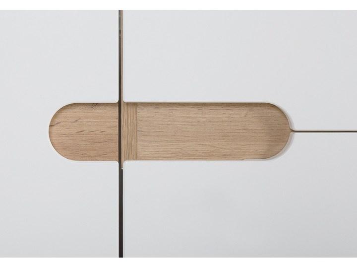 Bettso Wąska szafka pod umywalkę Bali White 40 / biel alpejska + biały połysk Szerokość 40 cm Wysokość 84 cm Płyta MDF Kategoria Szafki stojące