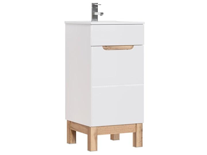 Bettso Wąska szafka pod umywalkę Bali White 40 / biel alpejska + biały połysk