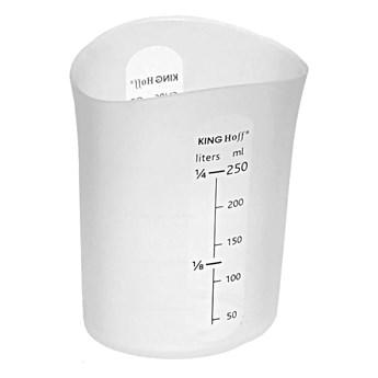 Pojemnik Kinghoff KH 4662 silikonowy kubek miarka mąka cukru