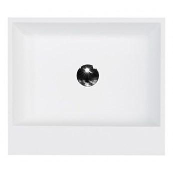 Umywalka wolnostojąca Vera Glam, 50x42x85 cm, prostokątna, biała/srebrna