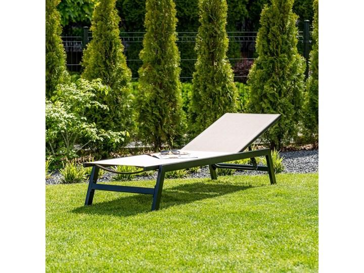 BEŻOWY LEŻAK OGRODOWY Aluminium Styl Nowoczesny Z regulowanym oparciem Kategoria Leżaki ogrodowe