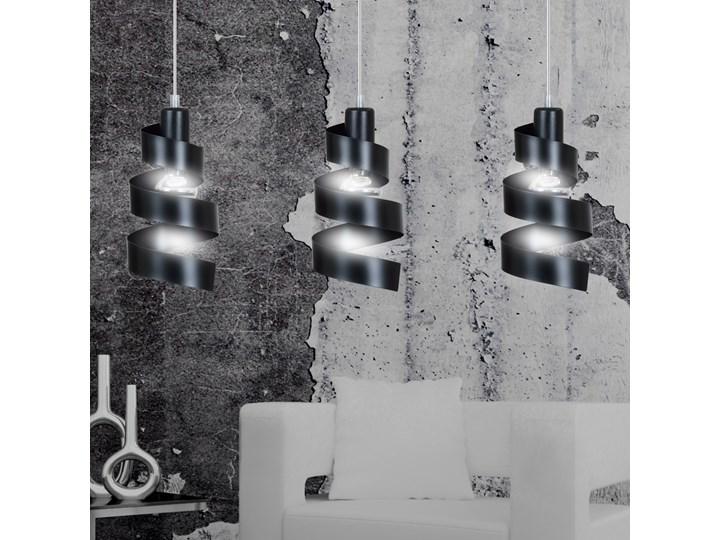 SAGA 3 BLACK 352/3 lampa wisząca sufitowa najnowszy design czarna Metal Pomieszczenie Salon