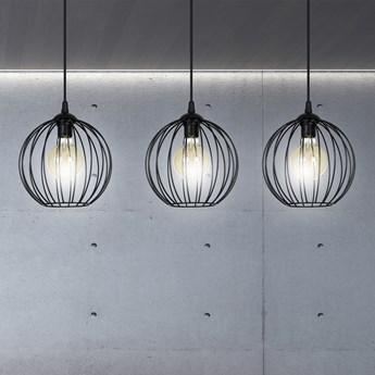 WALOR 3 BLACK 985/3 lampa wisząca regulowana zwis druciak LOFT design czarna
