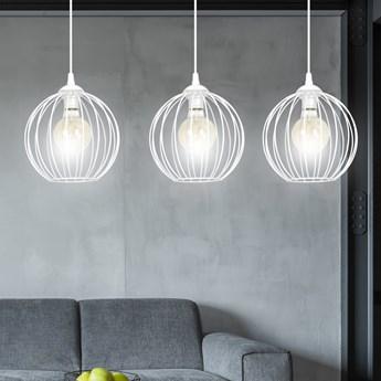 WALOR 3 WHITE 986/3 lampa wisząca regulowana zwis druciak LOFT design biała
