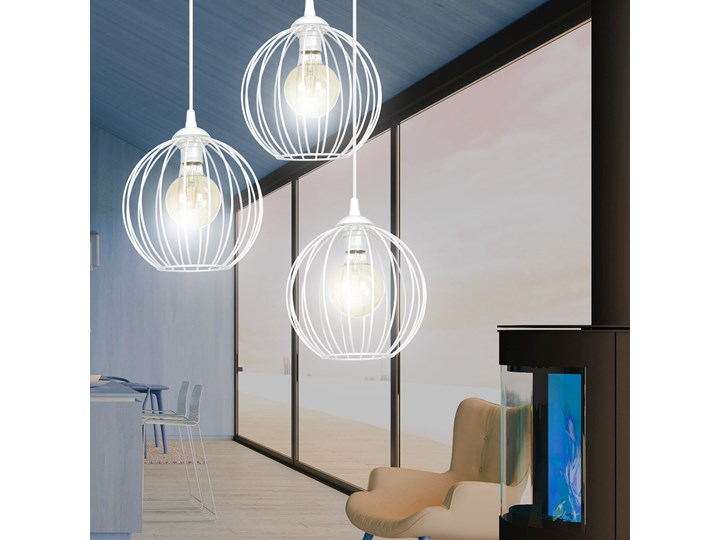 WALOR 3 WHITE PREMIUM zwis sufitowy wiszący regulowany biały LOFT Lampa z kloszem Metal Lampa LED Pomieszczenie Przedpokój Styl Industrialny