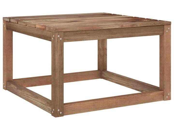 vidaXL 6-cz. zestaw wypoczynkowy do ogrodu, beżowe poduszki, sosna Zestawy wypoczynkowe Drewno Kolor Beżowy Styl Rustykalny
