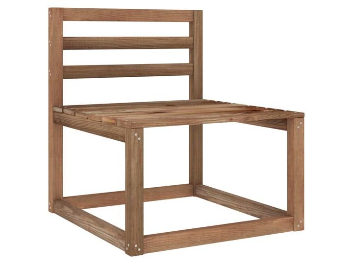 vidaXL 6-cz. zestaw wypoczynkowy do ogrodu, beżowe poduszki, sosna Drewno Zestawy wypoczynkowe Kolor Beżowy