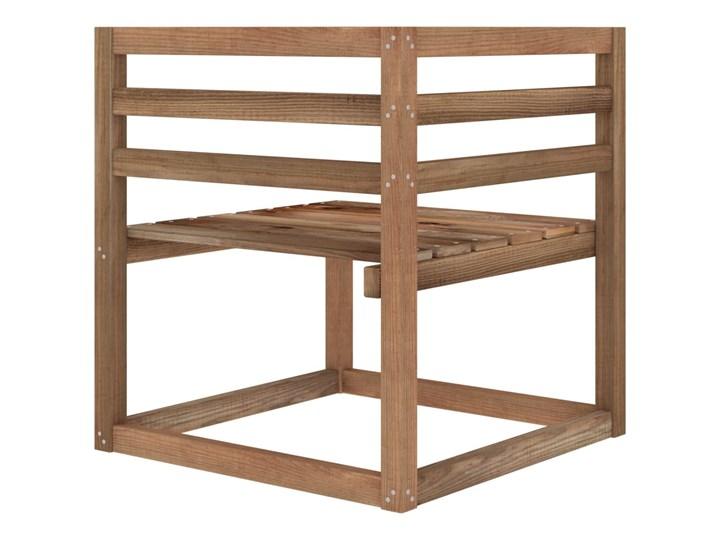 vidaXL 6-cz. zestaw wypoczynkowy do ogrodu, beżowe poduszki, sosna Styl Rustykalny Zestawy wypoczynkowe Drewno Kolor Beżowy