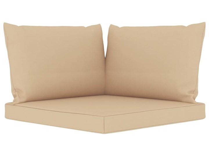 vidaXL 6-cz. zestaw wypoczynkowy do ogrodu, beżowe poduszki, sosna Zestawy wypoczynkowe Styl Rustykalny Drewno Kolor Beżowy