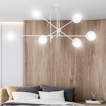 BORG 6 WHITE 1011/6 lampa sufitowa klosze szklane kule regulowana nowoczesna