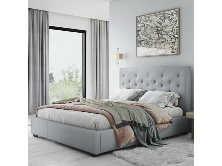 Łóżko z pojemnikiem Seri 140x200 cm jasnoszare Kategoria Łóżka do sypialni Łóżko pikowane Łóżko tapicerowane Kolor Szary