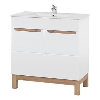 Bettso Łazienkowa szafka pod umywalkę Bali White 80 / biel alpejska + biały połysk