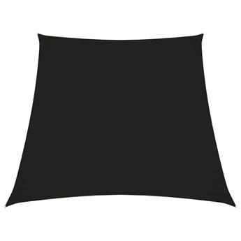 vidaXL Trapezowy żagiel ogrodowy, tkanina Oxford, 4/5x4 m, czarny