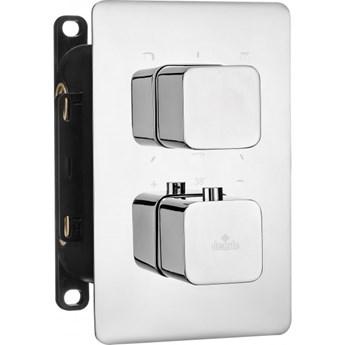 Deante Box bateria wannowo-prysznicowa podtynkowa termostatyczna chrom BXY 0ECT