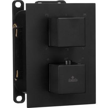 Deante Box bateria wannowo-prysznicowa podtynkowa termostatyczna czarna BXY NEAT