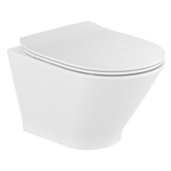 Roca Gap Round Compacto miska WC wisząca Rimless z deską WC wolnoopadającą Slim A34H0N3000