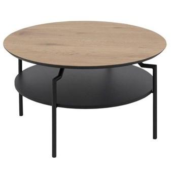 Okrągły stolik kawowy z półką - Cirko 3X