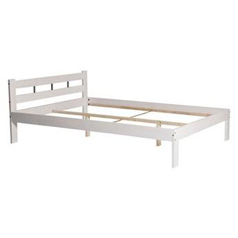 Białe minimalistyczne łóżko 140x200 - Kertis