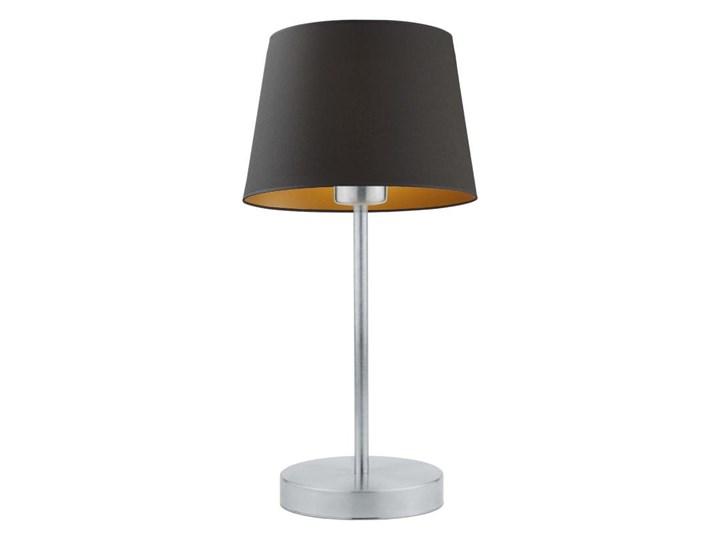 LAMPA BIURKOWA NOCNA PREXA STOŻEK WELUR GOLDEN Lampa z abażurem Lampa nocna Wysokość 47 cm Styl Nowoczesny