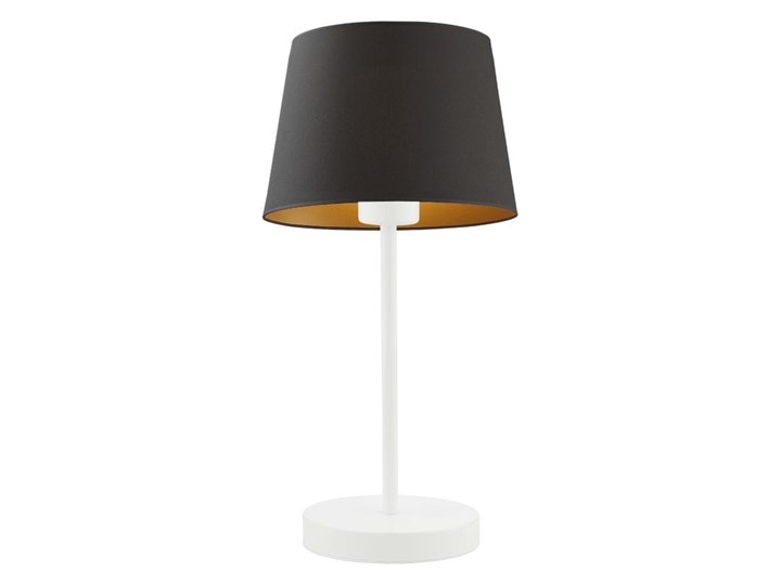 LAMPA BIURKOWA NOCNA PREXA STOŻEK WELUR GOLDEN Wysokość 47 cm Styl Nowoczesny Lampa nocna Lampa z abażurem Kolor Złoty