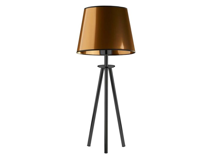 LAMPA NA STOLIK KANIS STOŻEK WELUR GOLDEN Lampa z abażurem Tkanina Stal Chrom Wysokość 50 cm Kategoria Lampy stołowe