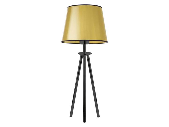 LAMPA NA STOLIK KANIS STOŻEK WELUR GOLDEN Lampa z abażurem Wysokość 50 cm Stal Tkanina Styl Nowoczesny Chrom Kategoria Lampy stołowe